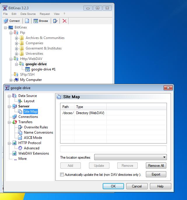 Marks Notes: webdav/davfs2 interface 2 google-drive